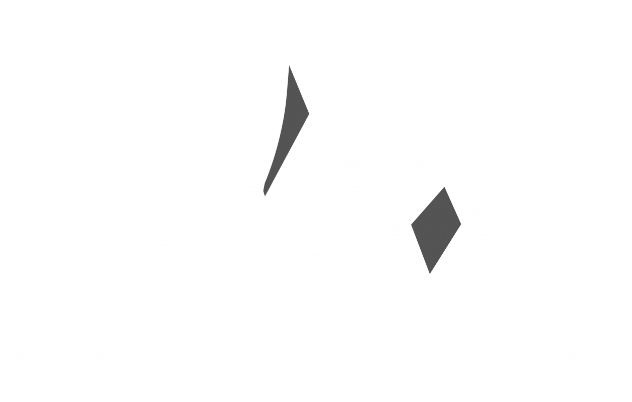 Unfolding Maps Logo White